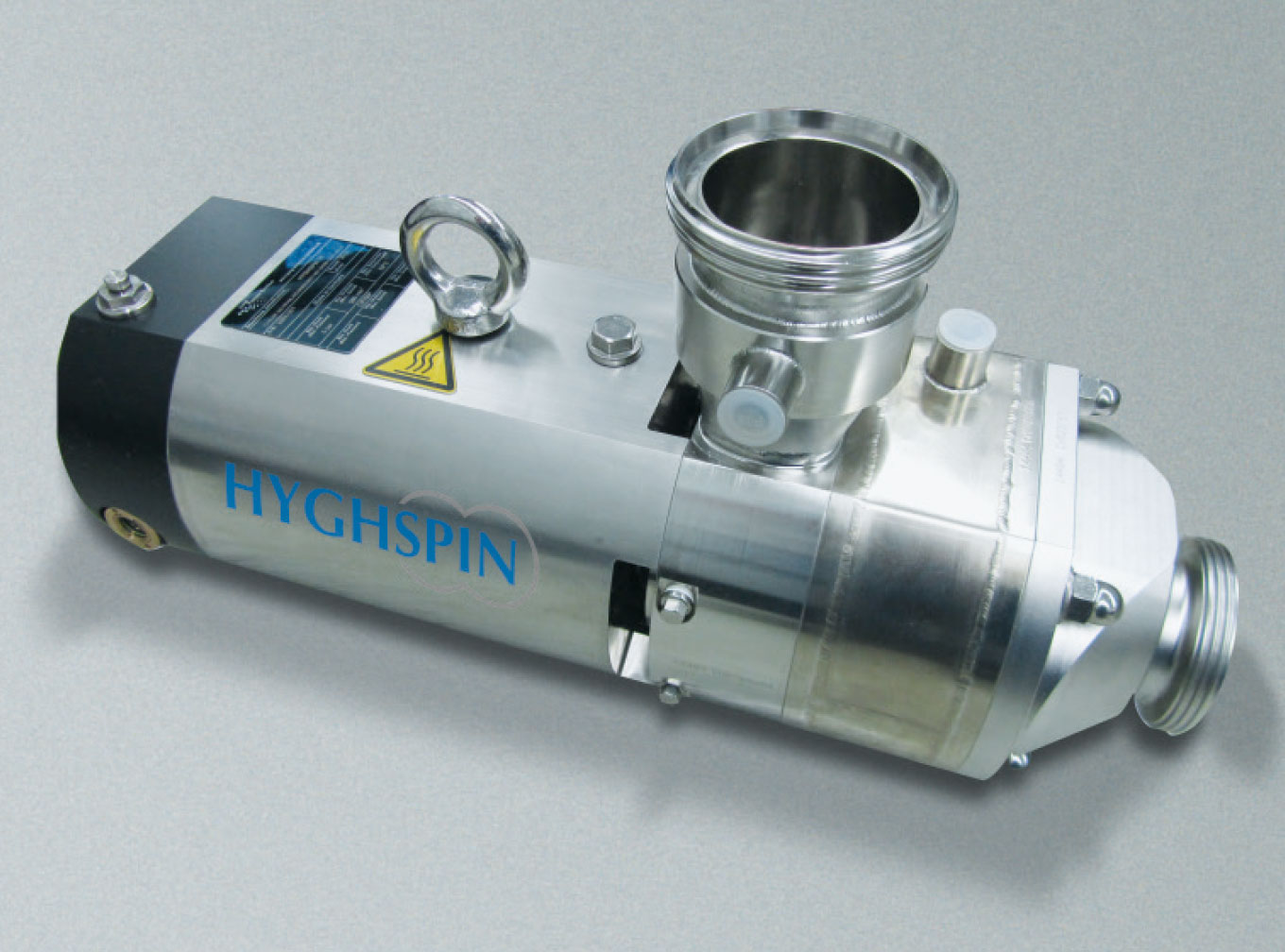 HYGHSPIN Engineered with heated housing and outlet